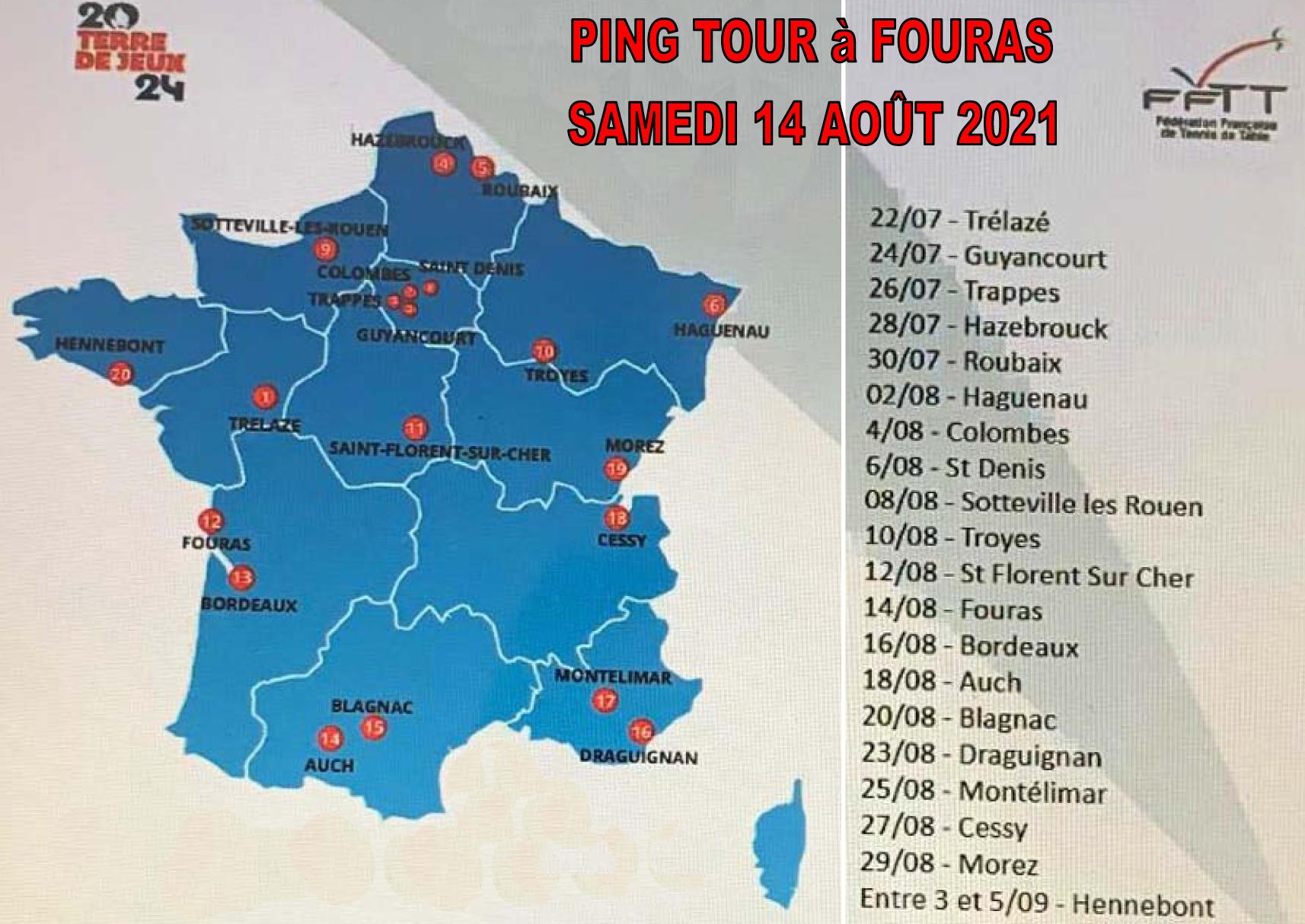 Read more about the article Le PING TOUR débarque à Fouras !