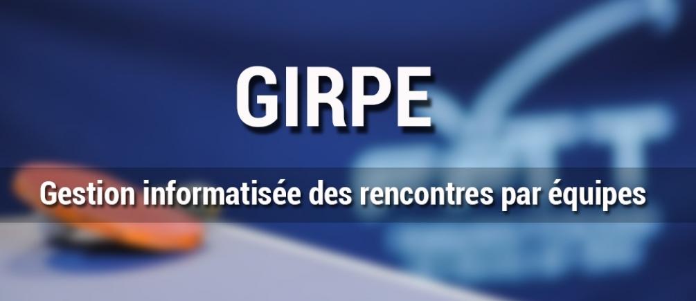 Read more about the article Mise à jour de GIRPE !